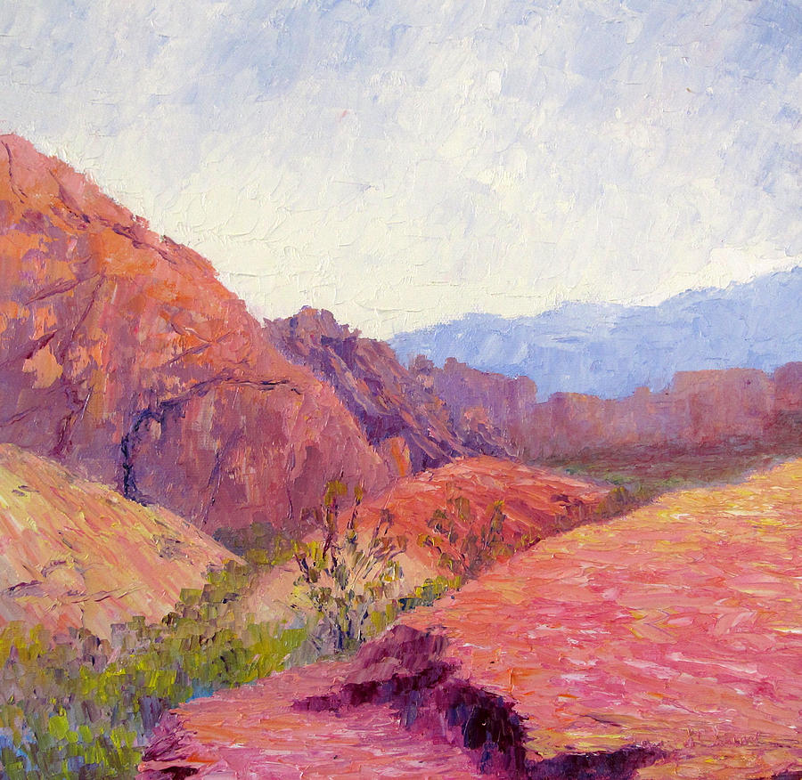 Landscape Painting - Mid Day Valley Of Fire by Terry  Chacon