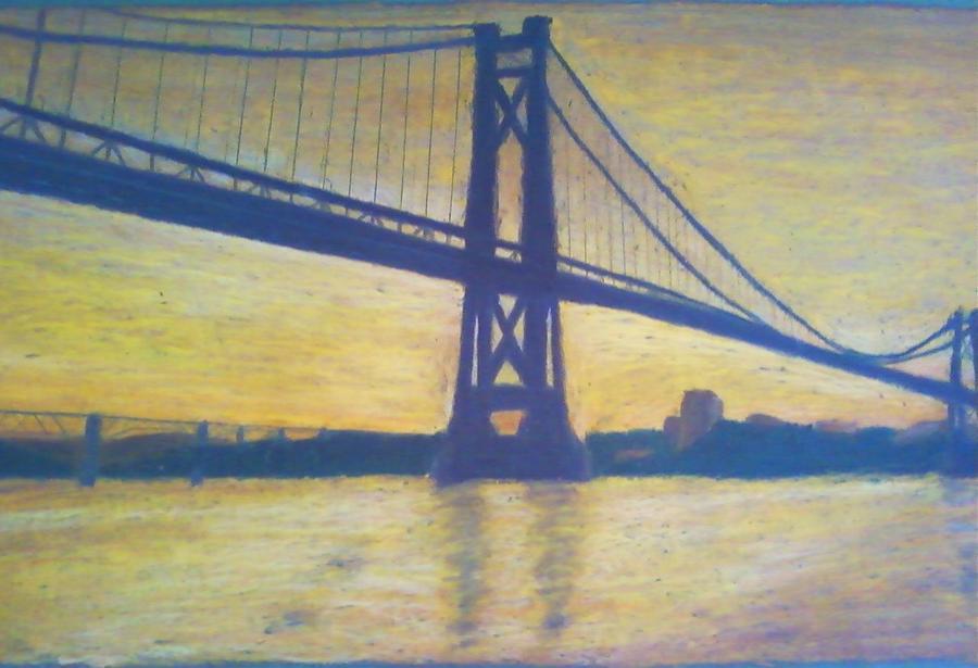 Sunrise Painting - Mid-hudson Bridge Sunrise by Samuel McMullen