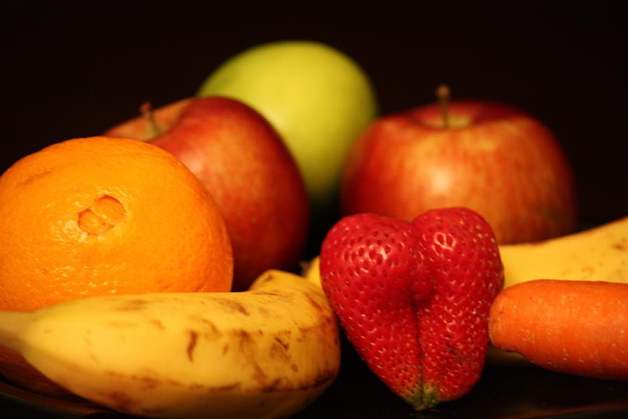 Apple Photograph - Mid Night Snack by Andrea Nicosia