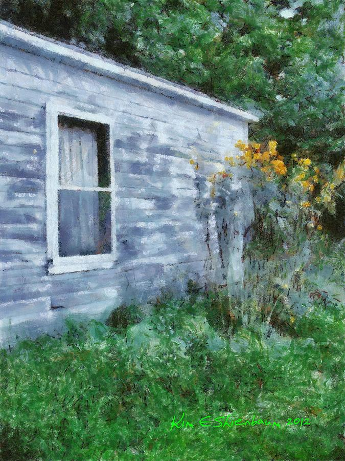 Rural Mixed Media - Mid-summer Hideaway by Kim Ezra Shienbaum