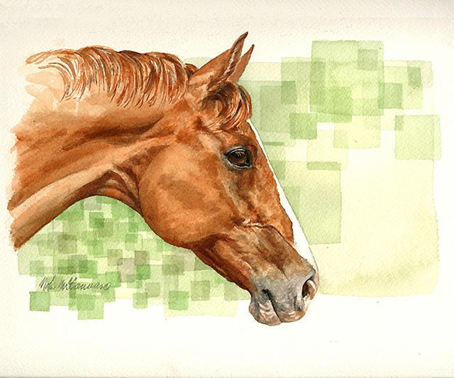 Horse Painting - Midas by Nola McConnan