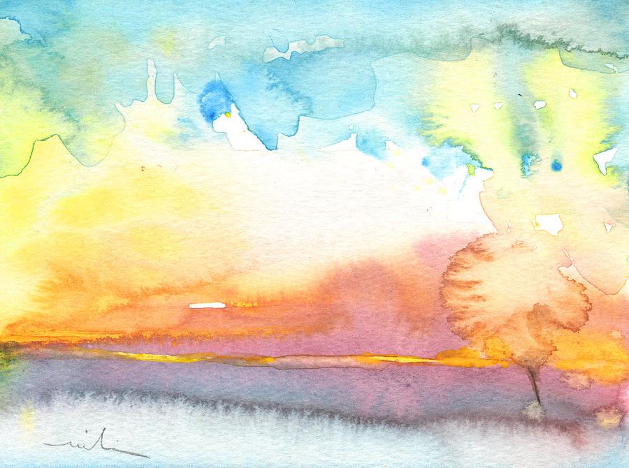 Watercolour Painting - Midday 26 by Miki De Goodaboom