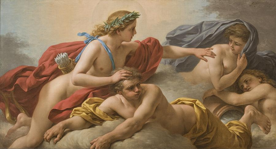 Allegory Painting - Midday by Louis Jean Francois I Lagrenee
