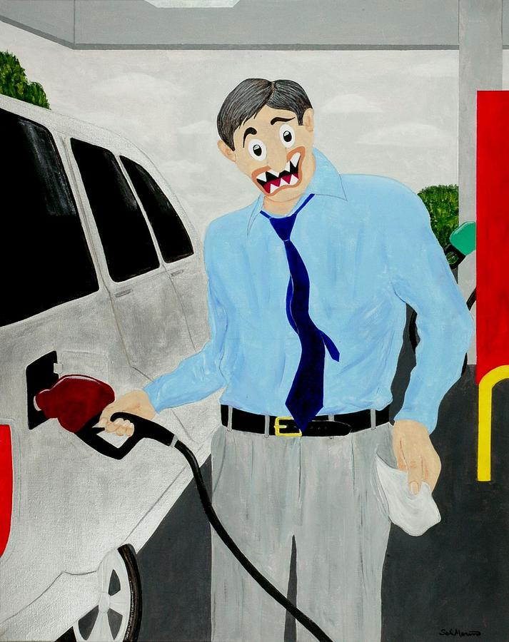 Poverty Painting - Middle Class Poverty by Sal Marino
