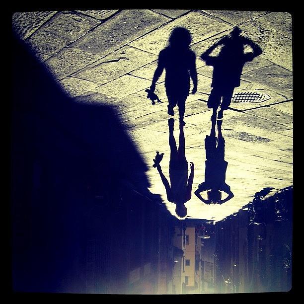 Rotate Photograph - Midget Walk. #rotate #shadow #kids by Robbert Ter Weijden