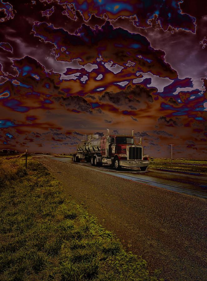 Truck Photograph - Midnight Deisel by Bill Tiepelman