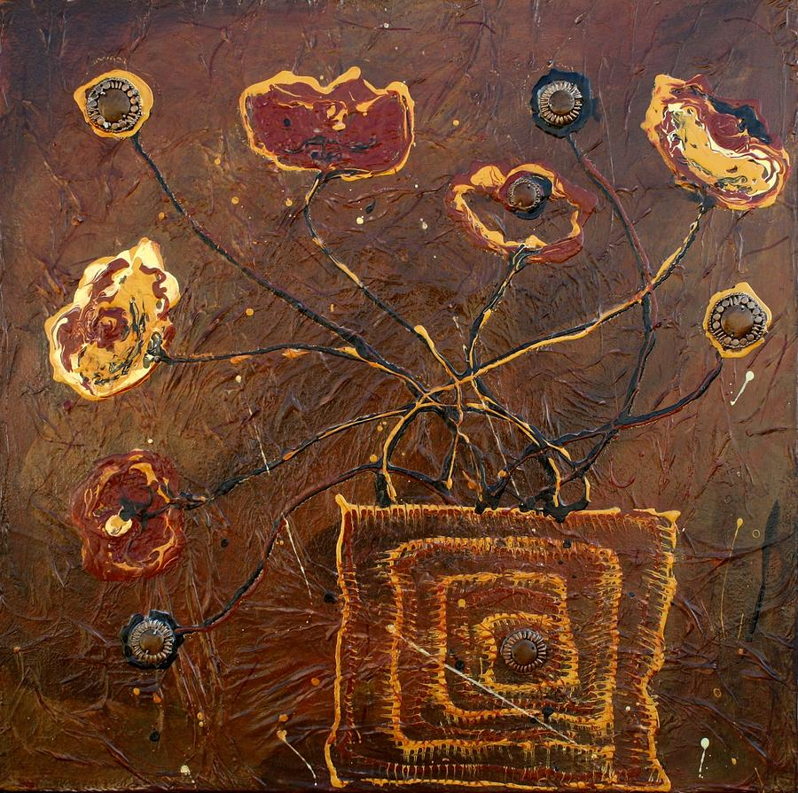 Poppies Painting - Midnight Poppies by Victoria  Johns
