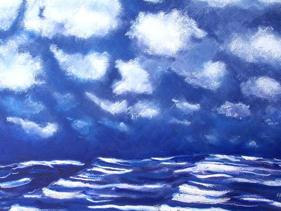 Jon Shepodd Painting - Midnight Sea by Jon Shepodd
