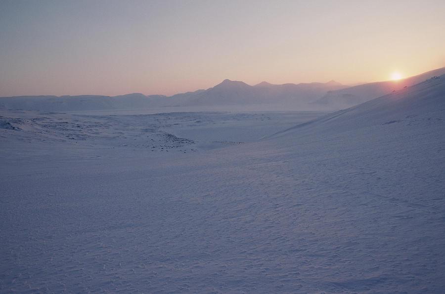 Spitsbergen Photograph - Midnight Sun Hovers Above Polar by Gordon Wiltsie