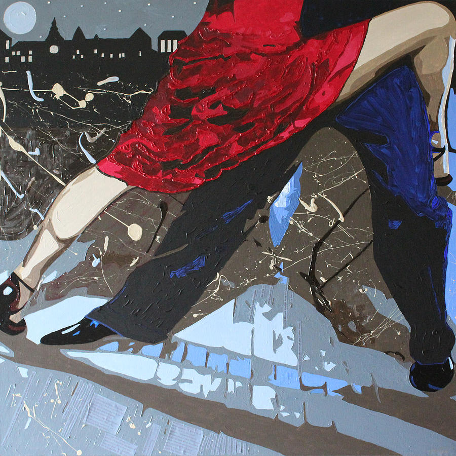 Tango Mixed Media - Midnight Tango by Claire  Milner