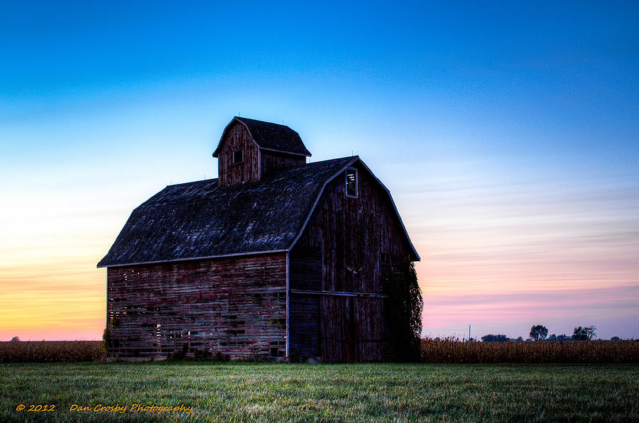 Landscape Photograph - Midwest Sun Down by Dan Crosby