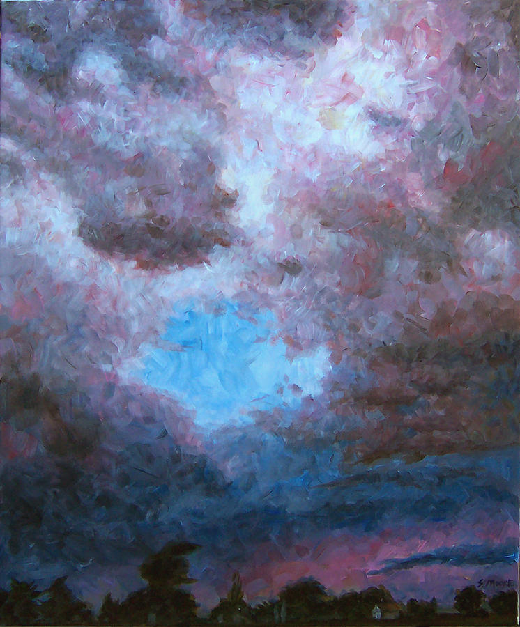 Weather Painting - Midwest Tempest by Susan Moore