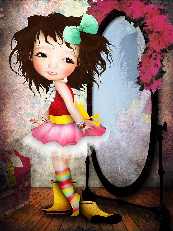 Little Girl Digital Art - Mielle by Jessica Von Braun