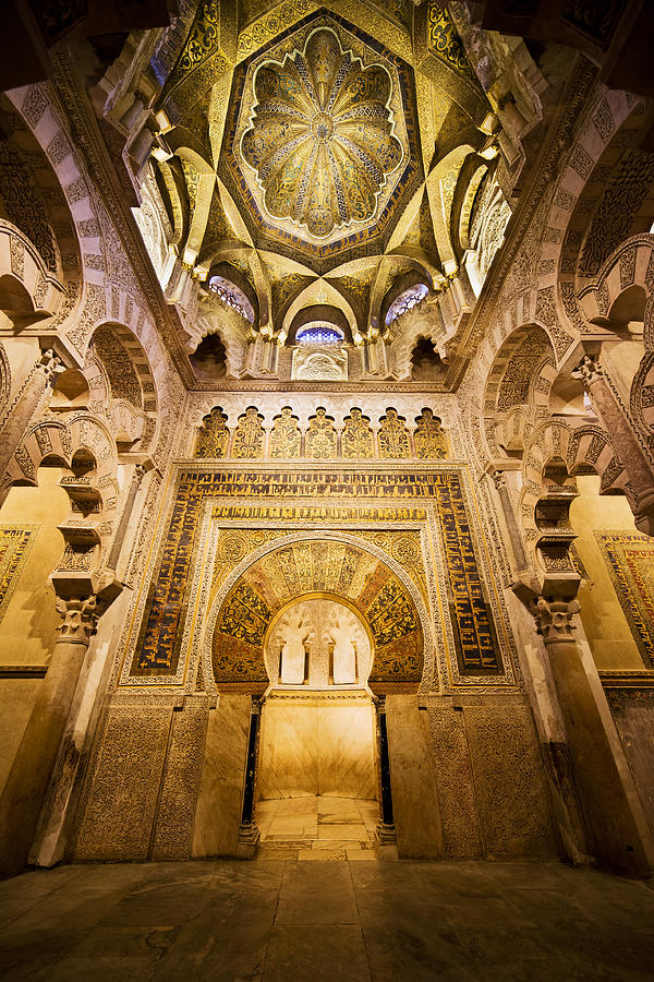 Mihrab Photograph - Mihrab And Ceiling Of Mezquita In Cordoba by Artur Bogacki