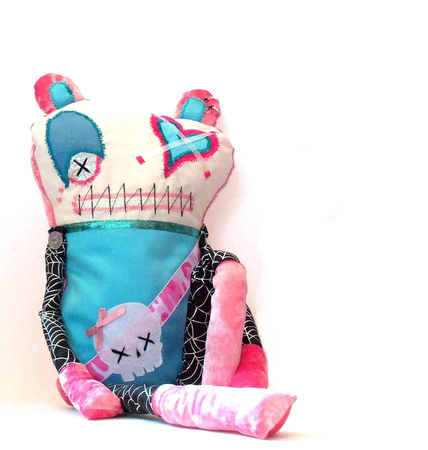 Doll Sculpture - Mika The Original Party Monster Zombie by Oddball Art Co by Lizzy Love