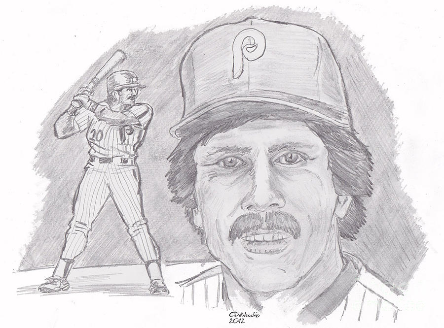Mike Schmidt Drawing by Chris  DelVecchio