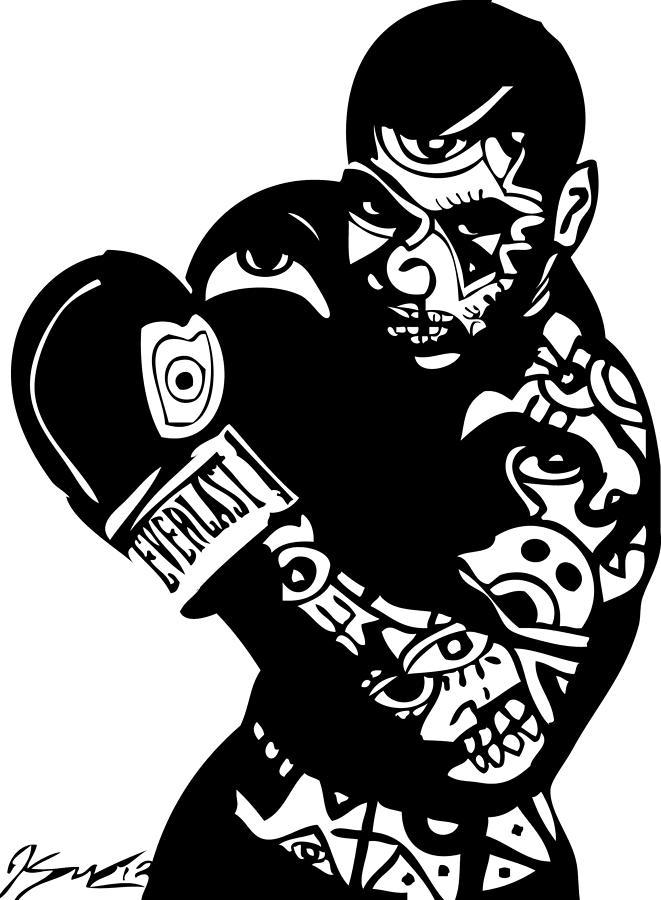 Tyson Digital Art - Mike Tyson by Kamoni Khem