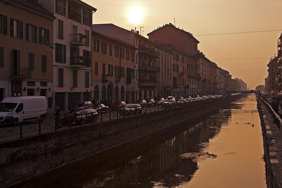 Navigli Photograph - Milan Naviglio Grande by Joana Kruse