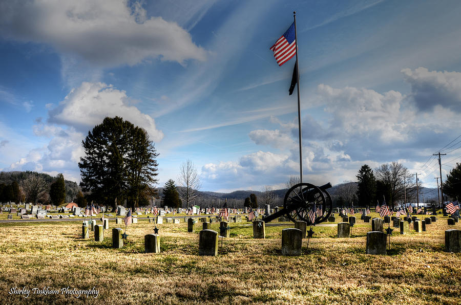 Cemetery Photograph - Military Honors by Shirley Tinkham