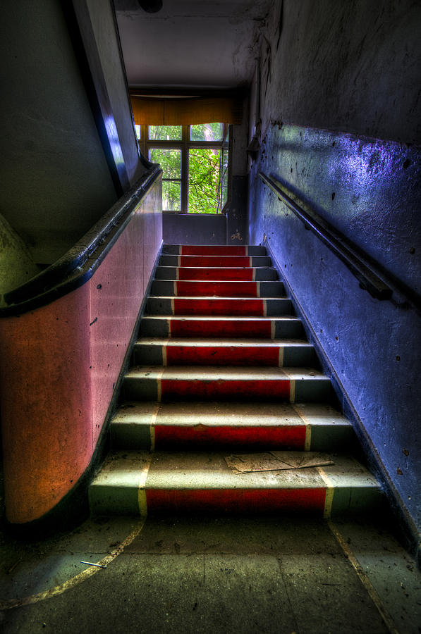Abandoned Photograph - Military Steps by Nathan Wright