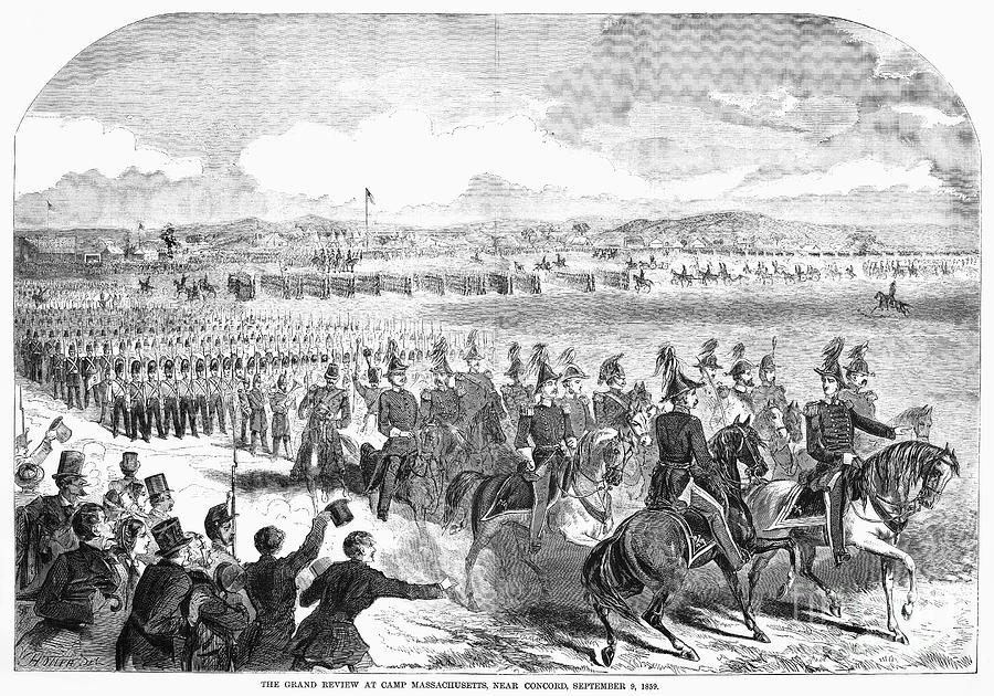 1859 Photograph - Militia Review, 1859 by Granger