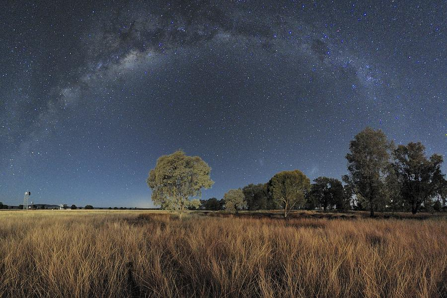 Milky Way Photograph - Milky Way Over Parkes Observatory by Alex Cherney, Terrastro.com