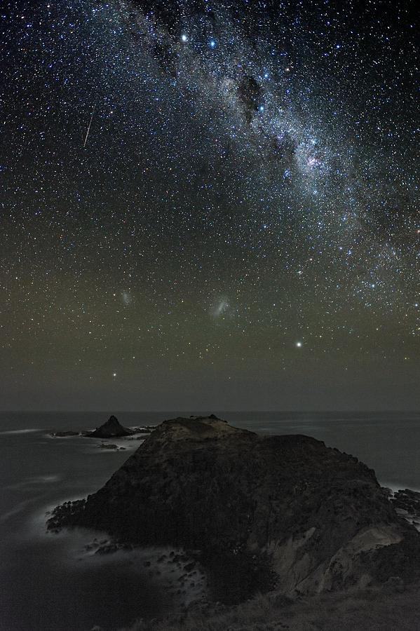 Milky Way Photograph - Milky Way Over Phillip Island, Australia by Alex Cherney, Terrastro.com