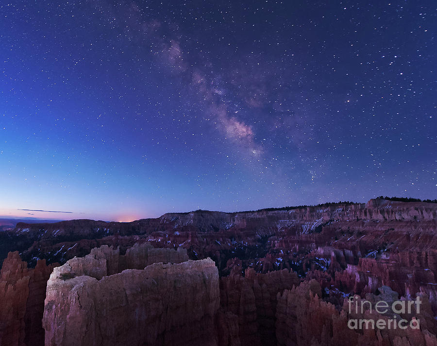 Milky Way Over The Needle Rock Photograph