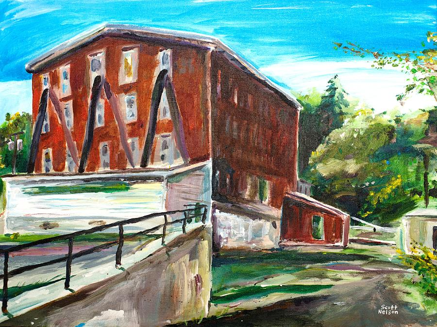 Mill Painting - Millbury Mill by Scott Nelson
