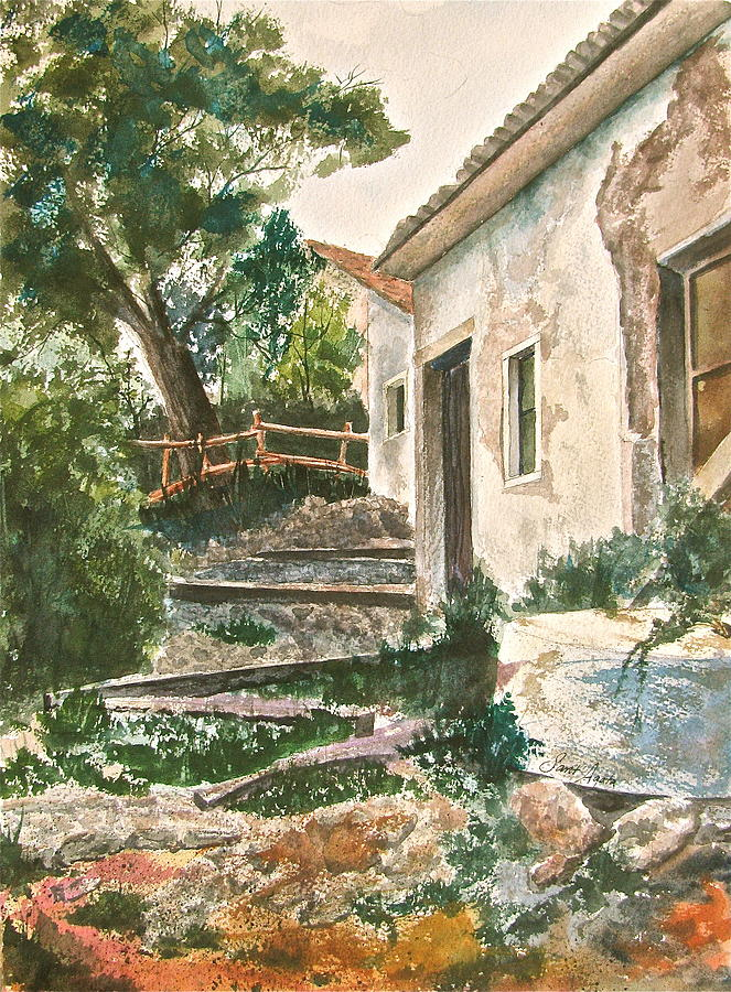 Greece Painting - Millstone Aria by Frank SantAgata