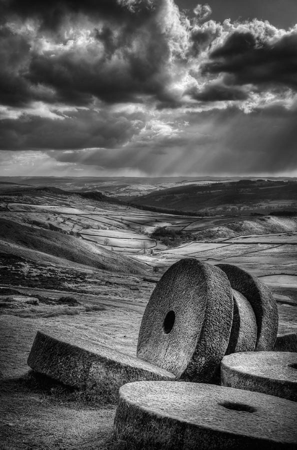 Black Photograph - Millstones On The Moor by Andy Astbury