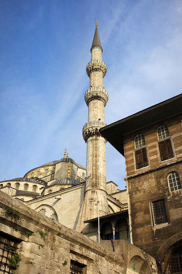Mosque Photograph - Minaret Of The Blue Mosque by Artur Bogacki