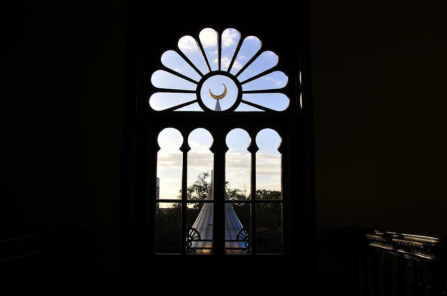 Architecture Photograph - Minaret Through Window by David Lee Thompson