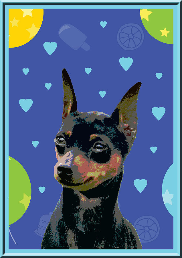 Animal Digital Art - Minature Pinscher by One Rude Dawg Orcutt