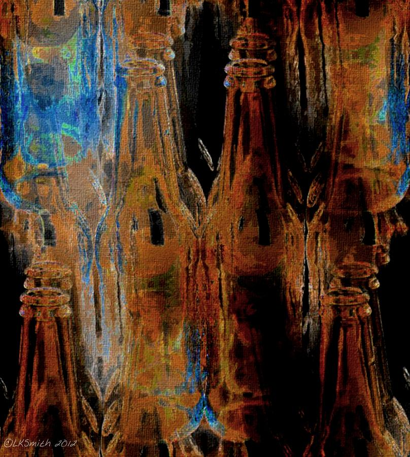 Bottles Painting - Mind Botteling - Abstract by Lynda K Cole-Smith
