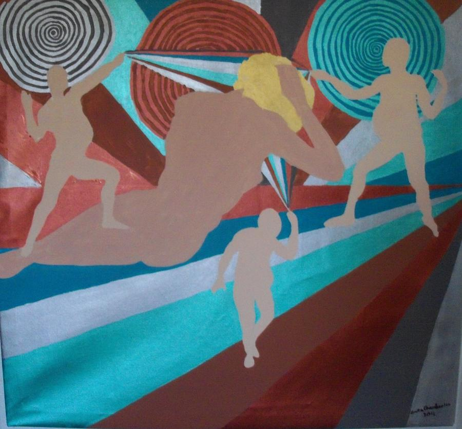 Mind Control Painting - Minded by Erika Chamberlin