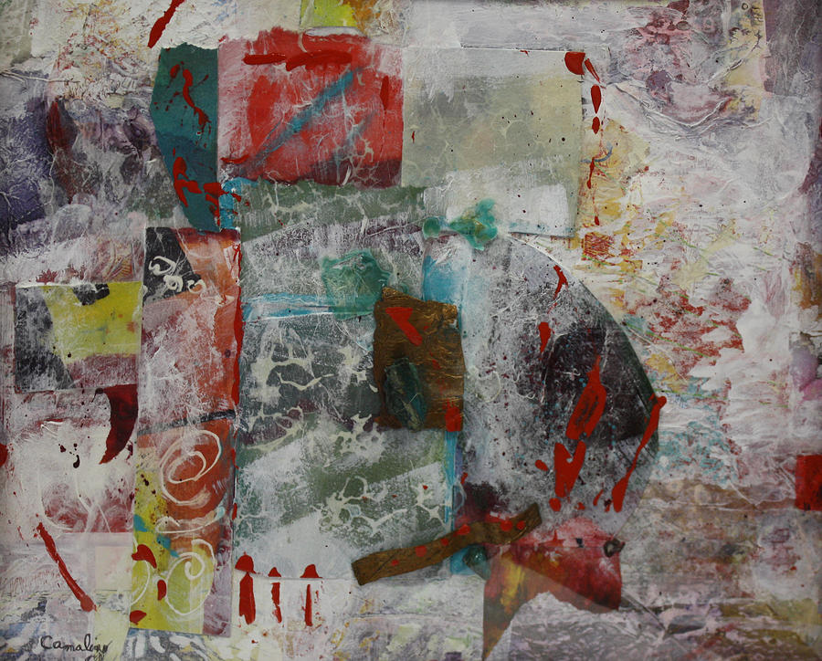 Abstract Mixed Media - Minerals by Lee Canalizo