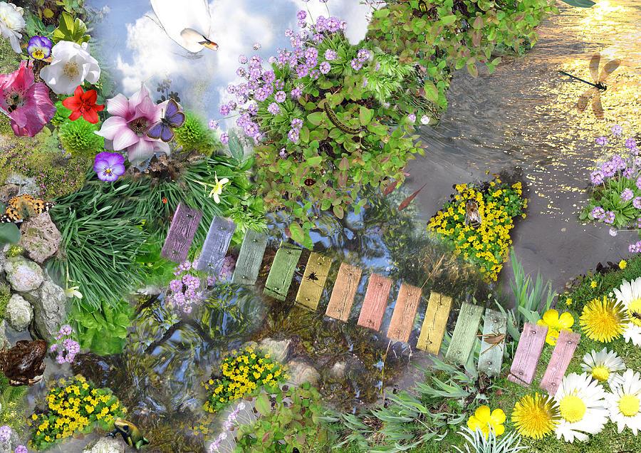 Landscape Digital Art - Mini-beasts Paradise by Emily Campbell