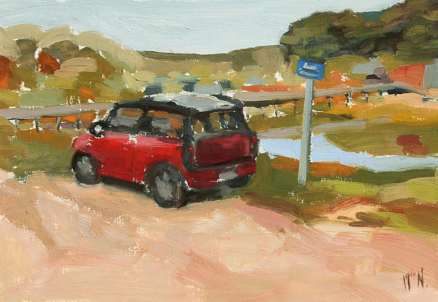 Mini Cooper Painting - Mini On The Cape by William Noonan