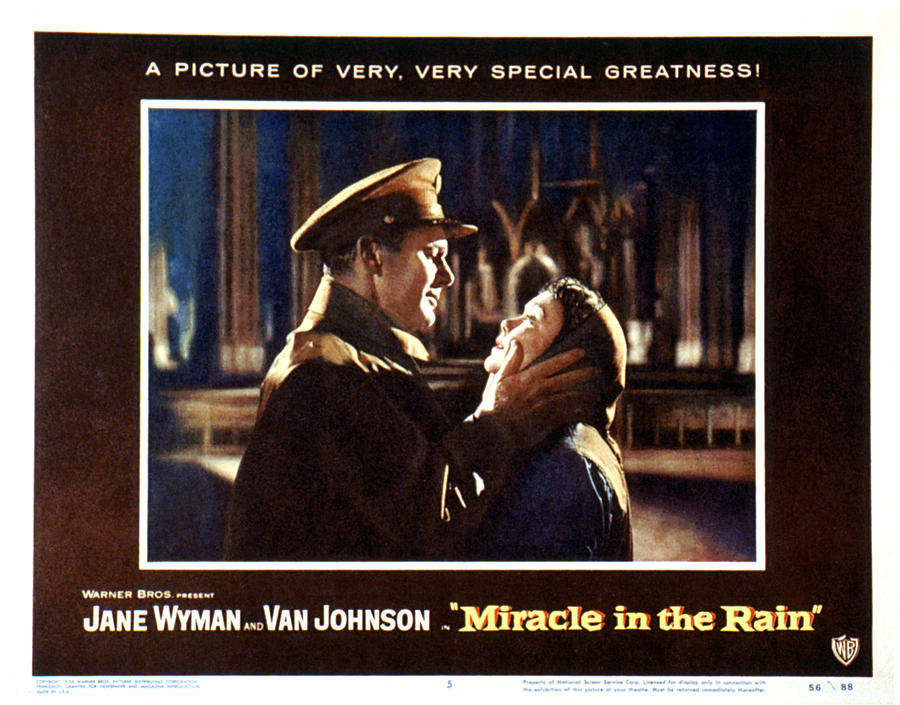 1956 Movies Photograph - Miracle In The Rain, Van Johnson, Jane by Everett