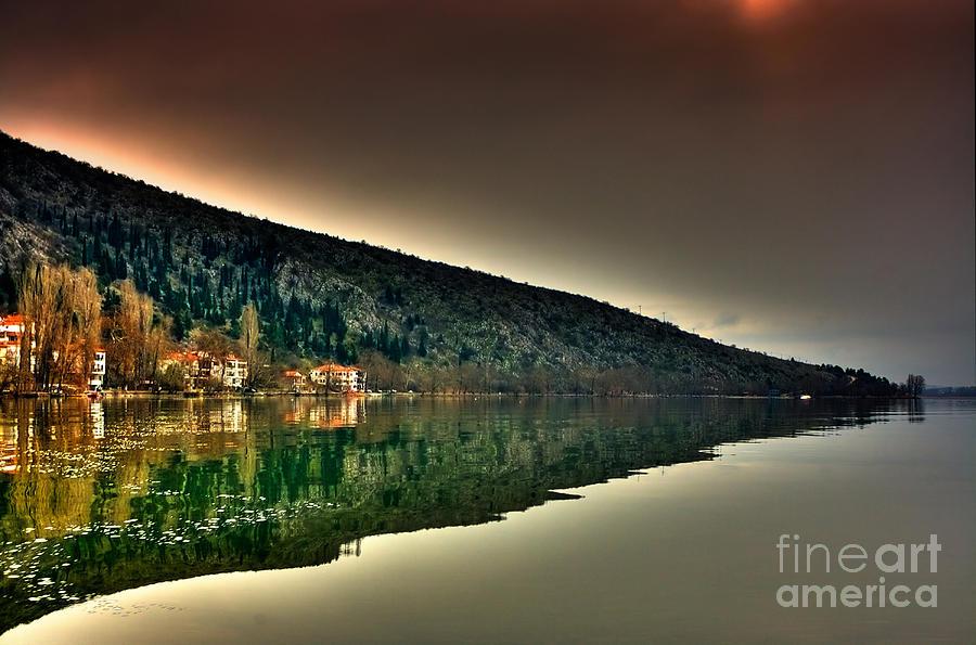 Boat Pyrography - Miror Mountain by Soultana Koleska