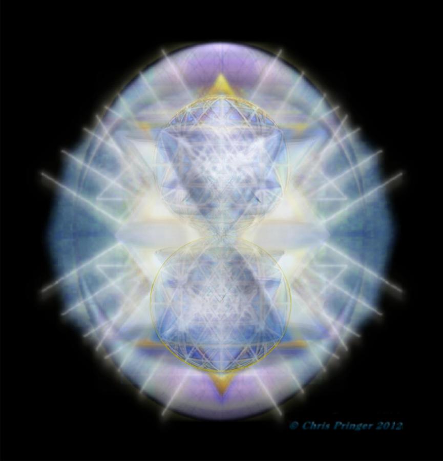 Mirror Digital Art - Mirror Emergence II Blue N Teal by Christopher Pringer