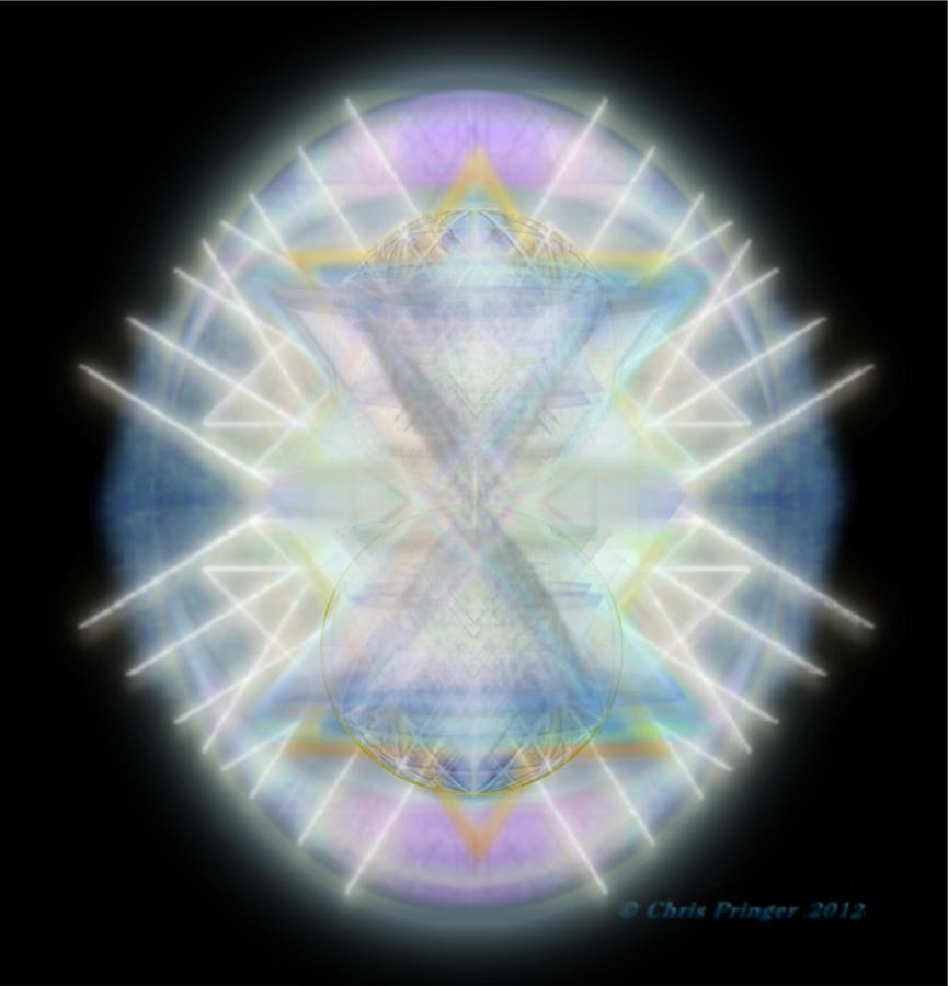 Mirror Digital Art - Mirror Emergence IIi Blue Green Teal by Christopher Pringer