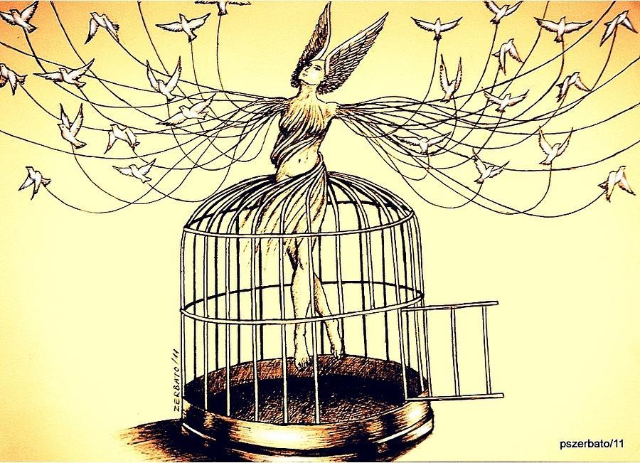 Prison Digital Art - Mirror Of The Memory Of The Flight by Paulo Zerbato