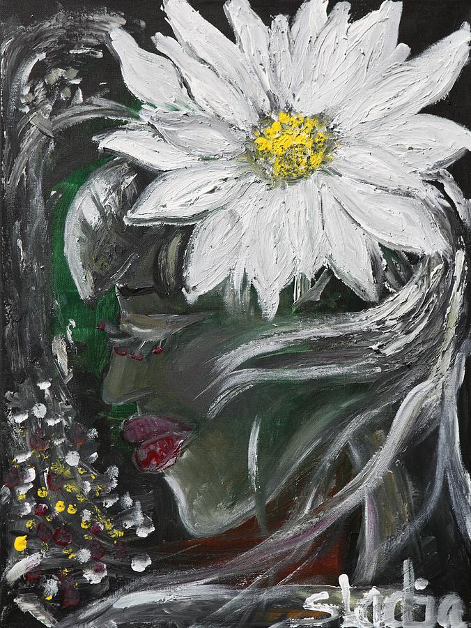 Fantasy Painting - Miss Daisy by Sladjana Lazarevic
