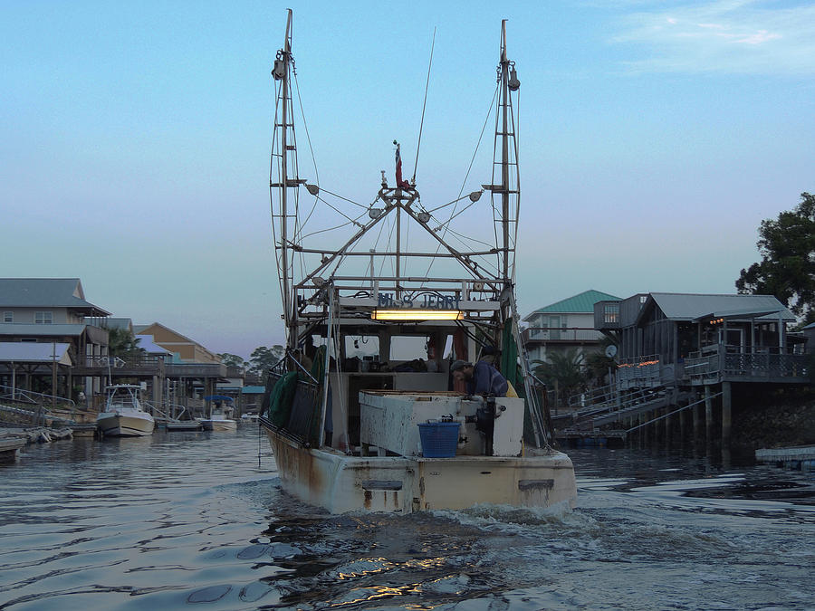 Shrimping Photograph - Miss Jerrys by Marilyn Holkham