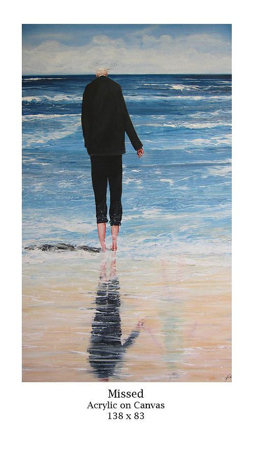 Figurative Painting - Missed by Tracy Dods