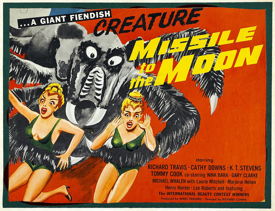 1958 Movies Photograph - Missile To The Moon, Half-sheet Poster by Everett