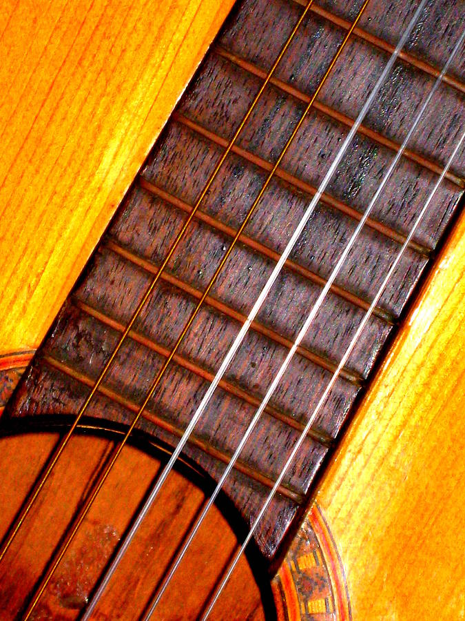 Guitar Photograph - Missing String by Jose Lopez