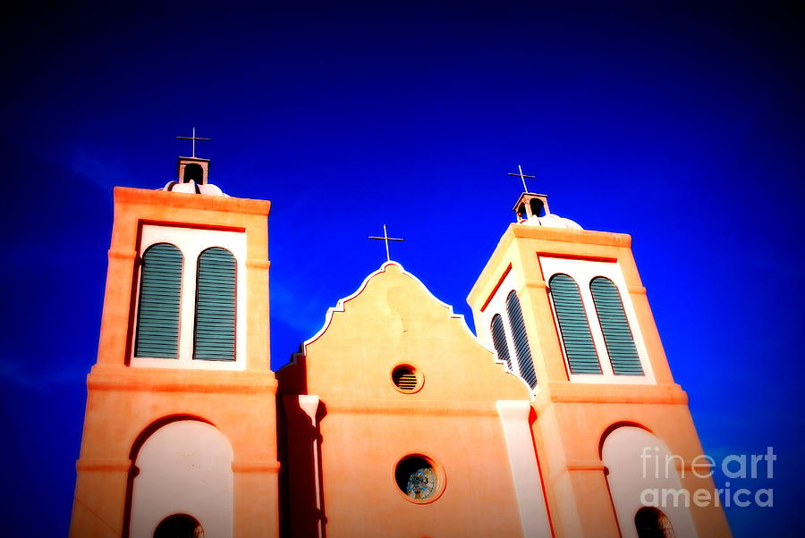 Mission Photograph - Mission Church Silver City Nm by Susanne Van Hulst